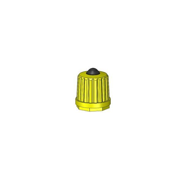 Nylon Cap Yellow Auto Moto Valves