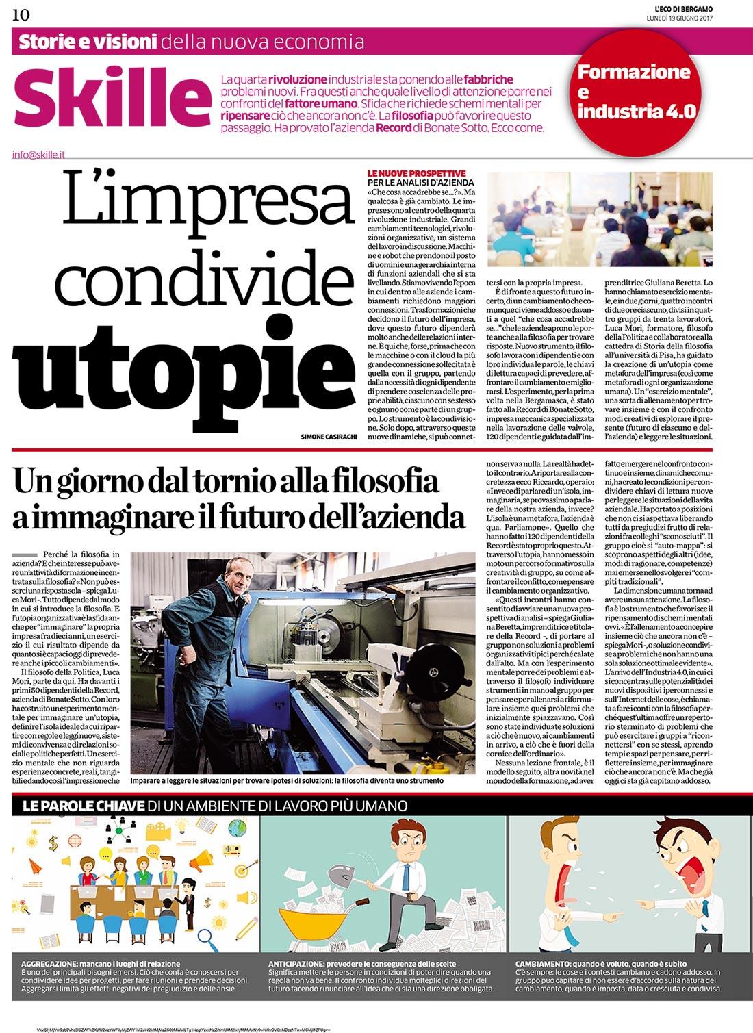ECO DI BERGAMO articolo Record Pagina 1
